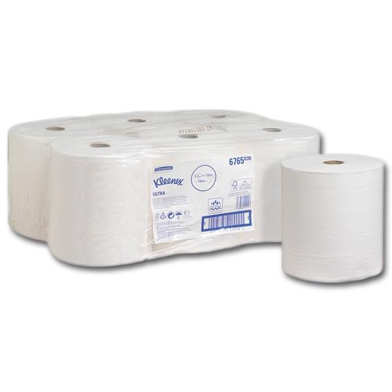 K. C. 6765 - 130 m/20 cm - 2-lagig - weiß - Papierhandtuchrolle