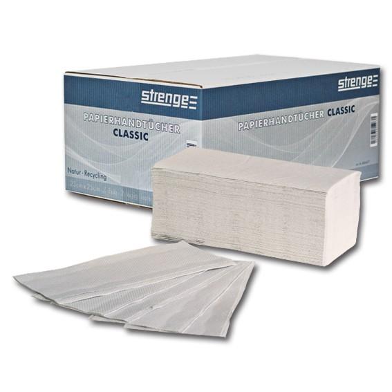STRENGE CLASSIC - 23 x 25 cm -2-lagig - naturweiß - Papierhandtücher