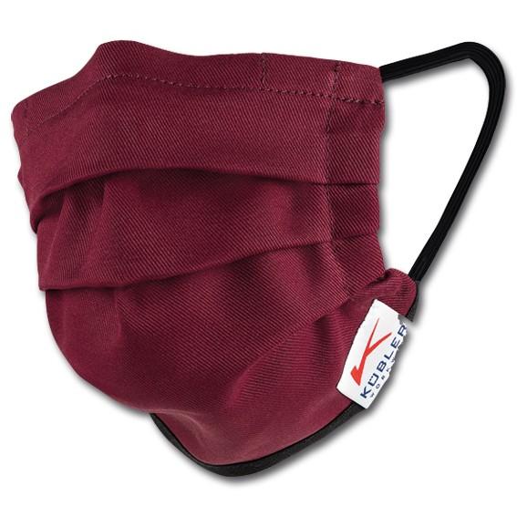 KÜBLER STAYHEALTHY 100% Baumwolle - Mund-Nasen-Maske mit Gummiband