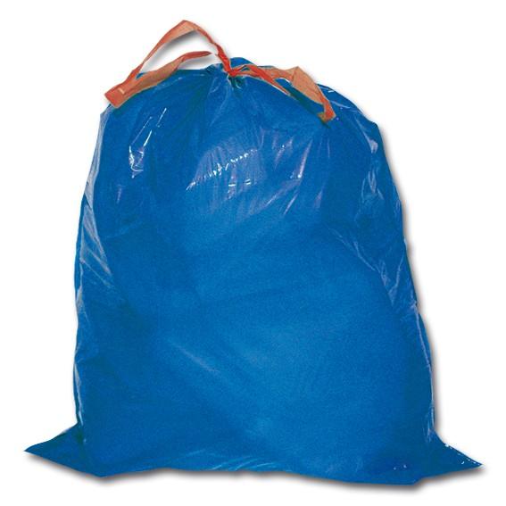 Säcke - LDPE blau mit Verschluss-Hilfe- 120 l