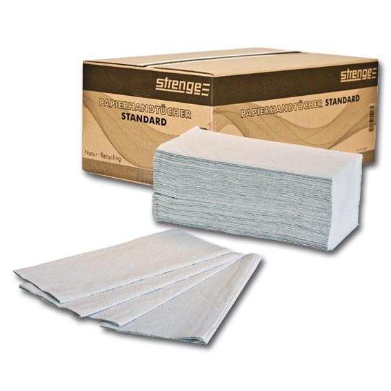 STRENGE STANDARD - 23 x 25 cm -1-lagig - natur - Papierhandtücher