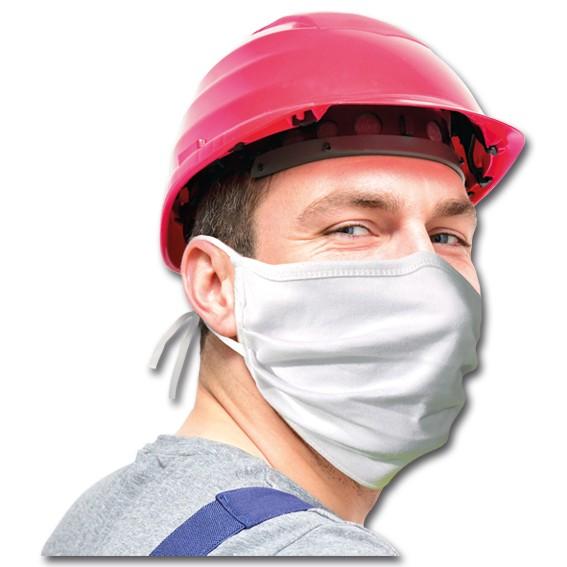 Stoffmaske 100 % Baumwolle mit Bänder - Mund-Nasen-Maske