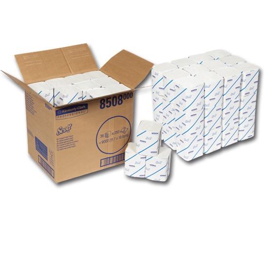 SCOTT Toilett Tissue - 2-lagig - Toilettenpapier Einzelblatt
