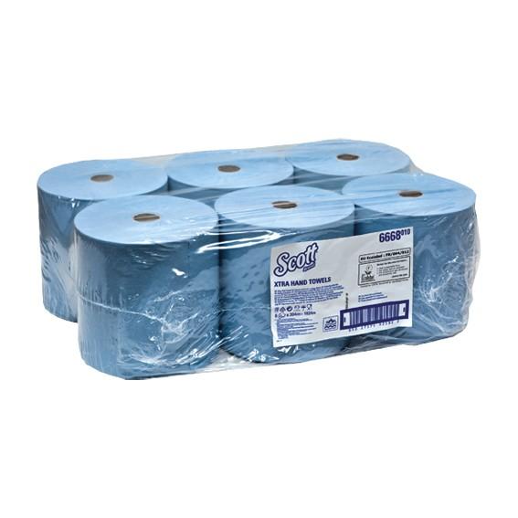 SCOTT 6668 - 304 m/20 cm - 1-lagig - blau - Papierhandtuchrolle