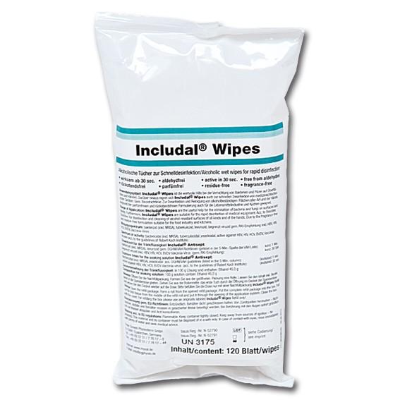 INCLUDAL WIPES - Desinfektionstücher