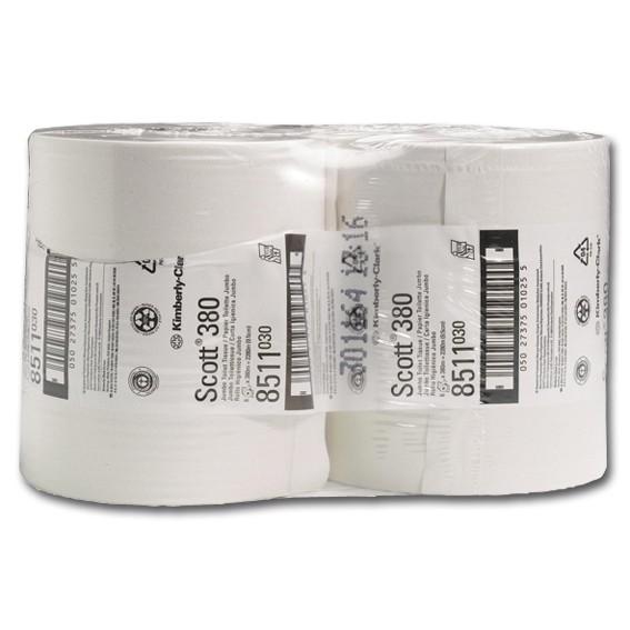 SCOTT 8511 ESSENTIAL MAXI - 2-lagig - weiß - perforiert - Toilettenpapier-Großrolle