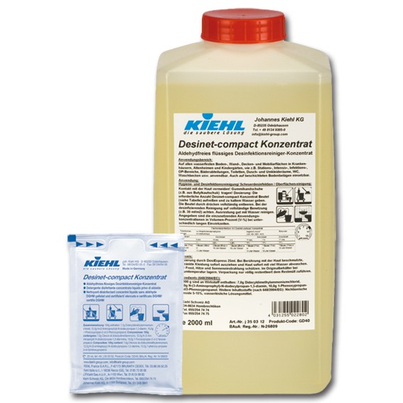 KIEHL DESINET-COMPACT Konzentrat - Desinfektionsreiniger