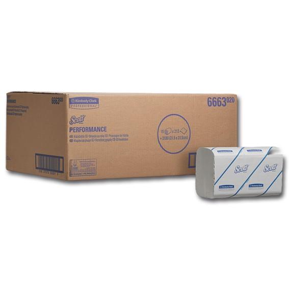 SCOTT 6663 - 33,5 x 21,5 cm -1-lagig - weiß - Papierhandtücher