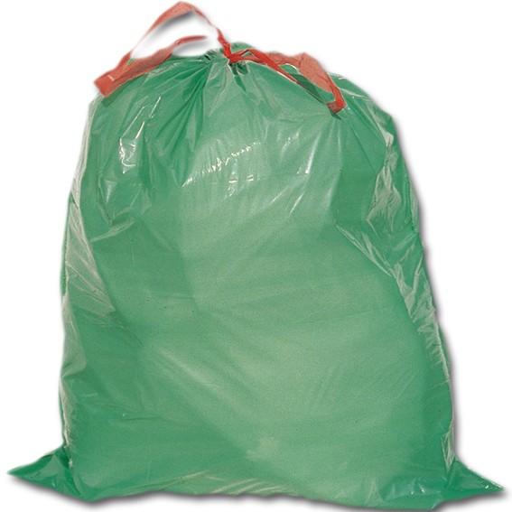 Säcke - LDPE grün mit Verschluss-Hilfe - 60 l